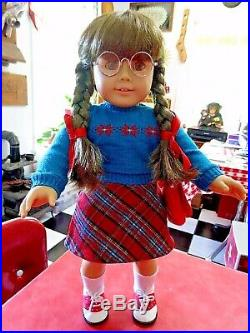 Pleasant Company American Girl Molly Doll & Rare Turquoise Outfit Adult Owned EC
