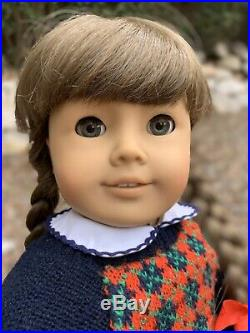 Pleasant Company American Girl White Body Molly Doll In Meet Outfit