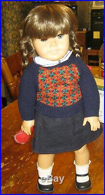 Pleasant Company American Girl White Body Molly In Meet Outfit with Glasses