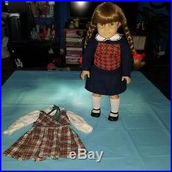 Pleasant Company Early Molly White Body Tagged Meet Outfit & School Plaid Jumper