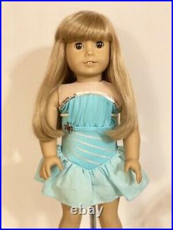 Pleasant Company JLY #12 RETIRED 18 American Girl Doll With Ice Skating Outfit
