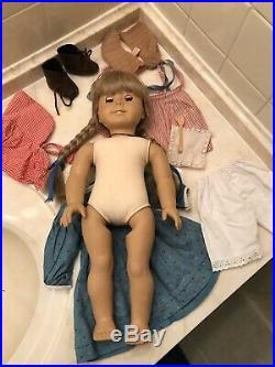 Pleasant Company White Body Kirsten Doll With Original Box And Outfit