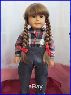 Pleasant Company White Body Molly doll in retired play outfit