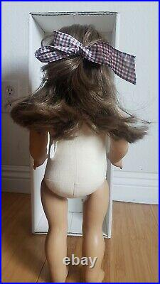Pleasant Company White Body Samantha Meet Outfit American Girl Doll Hat, Locket