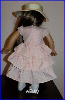 RARE American Girl Marie Grace Summer Outfit Party Dress Hat Boots OUTFIT ONLY