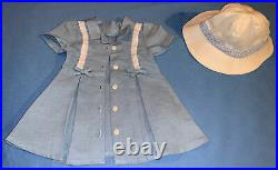 RARE American Girl Molly Special Edition Route 66 Dress Outfit with Matching Hat