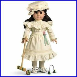 RARE American Girl Samantha Lawn Party Croquet Outfit Set Dress Hat MORE HTF EUC