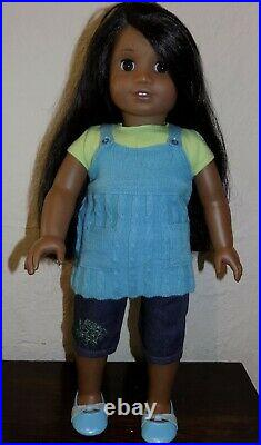 RARE American Girl Sonali Doll in Complete Meet Outfit EUC Ethnic