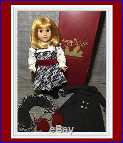 RARE & RETIRED American Girl Doll NELLIE with Holiday Dress & Winter Coat Outfit
