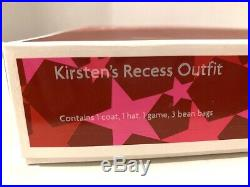 RARE RETIRED KIRSTEN'S Recess Outfit Retired Blue Coat NIB American Girl Doll