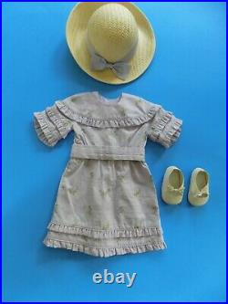 RARE Retired Rebecca's American Girl Summer Outfit Dress Bonnet Shoes
