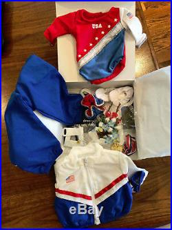 RETIRED 2004 American Girl Doll USA Red Blue Gymnastics Outfit III NEW IN BOX