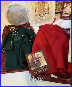 RETIRED American Girl Doll Felicity, Outfits, Accessories Lot