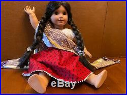 RETIRED American Girl Doll Josefina Pleasant Company wearing Meet Outfit. MINT