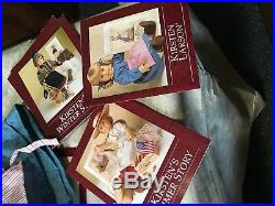 RETIRED American Girl Doll Kirsten with 4 Books, Outfits, Accessories, Snowglobe