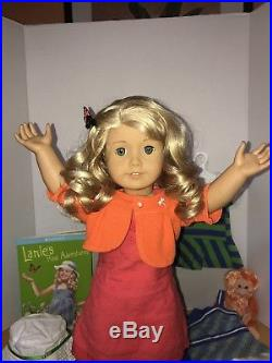 RETIRED American Girl Doll LANIE Lot 4 Outfits Clothes+ RARE Orangutan