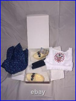 RETIRED! American Girl Kirsten Baking Outfit Dress Ribbons Clogs