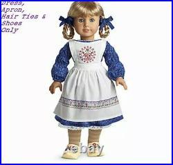 RETIRED! American Girl Kirsten Baking Outfit Dress Ribbons Clogs NIB No Doll Inc