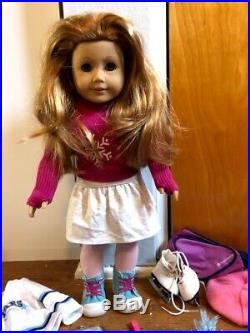 RETIRED American Girl Mia 2008 doll of the year + outfits and accessories
