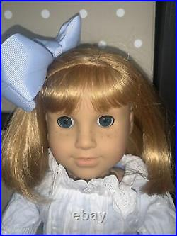 RETIRED American Girl PLEASANT COMPANY DOLL NELLIE in MEET OUTFIT & PURSE