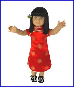 Rare 1st Ed 2008 American Girl Ivy Ling Asian-American New Years Outfit Plus EUC