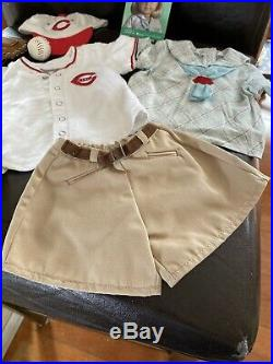 Rare Retired Kit's Reds Fan Outfit American Girl Doll Baseball Mitt Jersey Cap