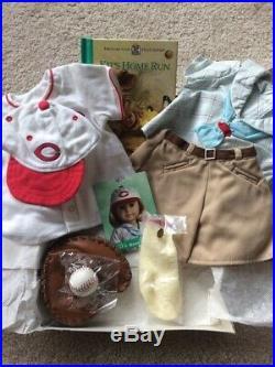RetiredAmerican Girl Kit Cincinnatti Reds Baseball Outfit LotExcellent