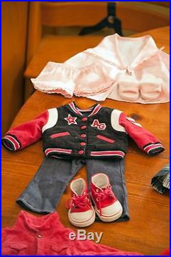 Retired 2005 American Girl Doll Just Like Me Lot With Outfits, Ballet Studio
