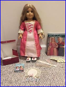 Retired American Girl Doll Elizabeth, Book, Outfit, and Accessories
