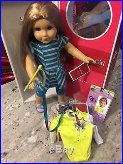 Retired American Girl Doll McKenna with Gymnast Outfit