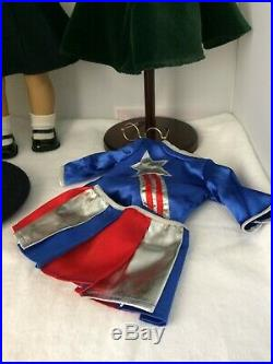 Retired American Girl Doll Molly withMeet Outfit Tap Dance Christmas Dress Lot