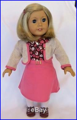 Retired American Girl KIT KITTREDGE 18 Doll withOVERALLS OUTFIT & SCHOOL SET