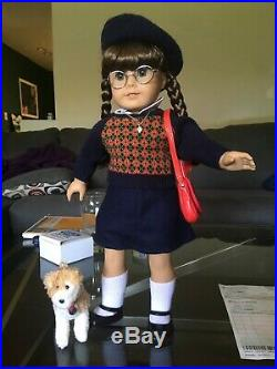 Retired American Girl Molly- Meet Outfit+All Accessories+Pet+Papers, Hardly Used