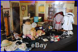 Retired American Girl Samantha and several outfits with Scenes giant book