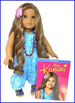 Retired American Girl of the Year 2011 Kanani Akina Meet Outfit & Book EUC