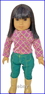 Retired Collectible American Girl Ivy Ling in Meet Outfit & Accessories EUC