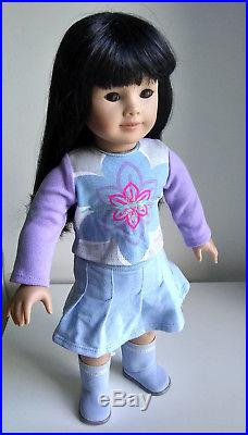 Retired Euc American Girl Doll Jly Asian # 4 Pleasant Company 749/76 & Outfit