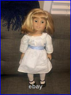 Retired Historical American Girl Doll Nellie O'Malley In Meet Outfit EUC