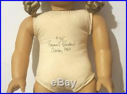 Signed American Girl Kirsten-white Body-w. Germany-#135-oct, 1986-meet Outfit+more