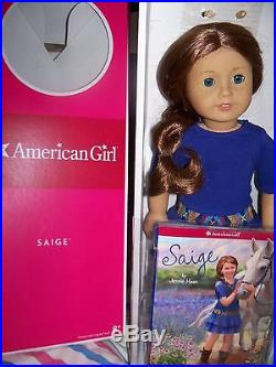 Saige Collector Doll Display No Play in Box 2 outfits, book, ring accessories