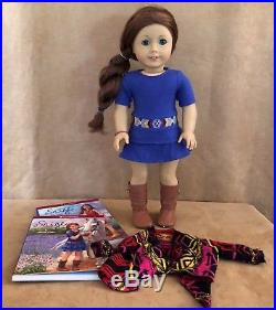 Saige GOTY 2013 Meet outfit dress American Girl of Today Doll book lot retired