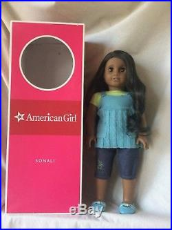 Sonali Retired American Girl Doll with Original Outfit and Box (gently used)