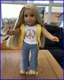 The Gorgeous American Girl Doll Julie Goty Retired In Meet Outfit