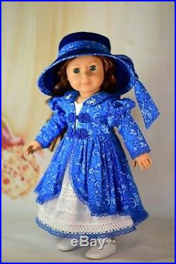 The Mayor's Daughter Dress Coat Outfit for 18 American Girl Doll Samantha