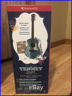 Two American Girl 18 inch dolls Tenney Grant, Logan Everett, guitar, outfits, acc