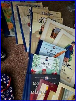 ULTIMATE American Girl Pleasant Company Molly Lot 1986 Books Outfits WOW doll