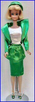 Vintage 1965 American Girl Barbie Doll Pale Blonde Hair, Tagged Outfit
