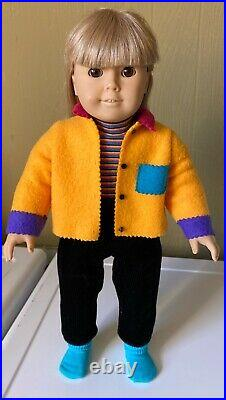 Vintage 1996 American Girl Doll Pleasant Company Girl Of Today With Meet Outfit