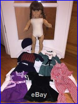 Vintage American Girl Doll Molly 5 Outfit Lot Pleasant Company White Body Pajama