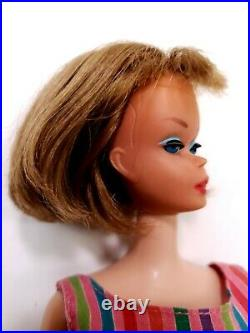 Vintage BARBIE 1965 American Girl Blonde Hair Doll #1070 with Original Outfit